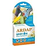 ARDAP Spot On - Zecken & Milbenschutz für Ziervögel & Brieftauben - Natürlicher Wirkstoff - Bis zu 12 Wochen nachhaltiger Langzeitschutz