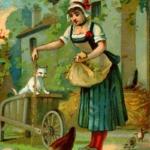 Hühnerfüttern vor 100 Jahren