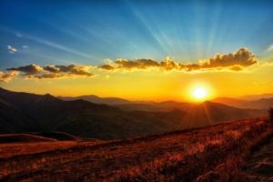 Sonnenaufgang am Morgen